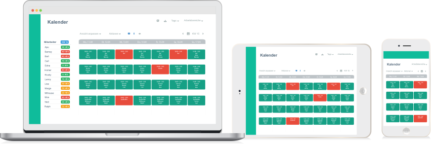 Papershift's online human resources planning allows your employees to access your roster at any time