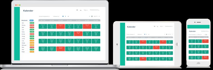 La planification du personnel en ligne de Papershift permet à vos employés d'accéder à votre liste à tout moment